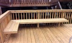 Deck Plan with Built-In Benches for Seating and Storage.