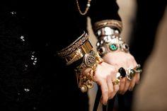 like a bazaar on her wrists