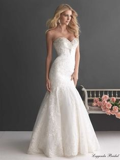 Discover the Allure Romance 2667 Bridal Gown. Find exceptional Allure Romance Bridal Gowns at The Wedding Shoppe Elegant Wedding Dress, Best Wedding Dresses, Designer Wedding Dresses, Bridal Dresses, Wedding Gowns, Bridesmaid Dresses, Tulle Wedding, Prom Gowns, Mermaid Wedding