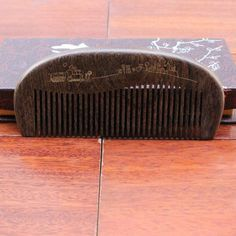 Natural Black gold sandalwood hairbrush Wooden Comb Wide Tooth No-static head Massager Hair Brush combs for hair massage peine