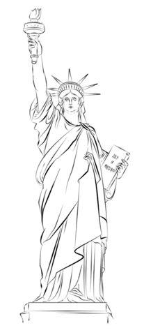 Statue of Liberty in New York Ausmalbild