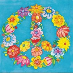 peace sign made of flowers | ... to transform the flower peace sign into a beautiful peace painting