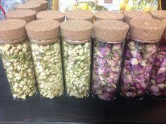 Dry flowers: Jasmine, RoseBuds,RoseHips, Lavender. Simply make a caffeine free beverage or blend them with teas! @Annankatu 19.00120. Helsinki. TeeMaa TeaShop
