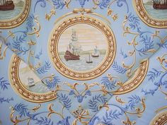 4 yards Lee Jofa I Galeoni in Shell Clipper Ships by lifeinweave