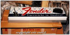https://flic.kr/p/eWLnzC | 1960's Fender Guitars authorized dealer sign. | Pretty hard to come by here in the states....I turned up TWO of these in Germany!!! You're welcome! Note: NOS in the BOX!!!!!!
