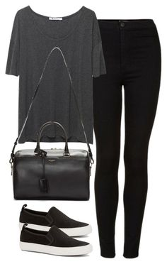 """""""Untitled #405"""" by elly98 ❤ liked on Polyvore featuring Topshop, T By Alexander Wang, C. Wonder and Yves Saint Laurent"""