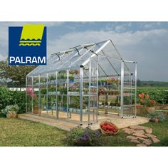 Palram Snap & Grow 8' Series Hobby Greenhouse - 8' x 12' Silver