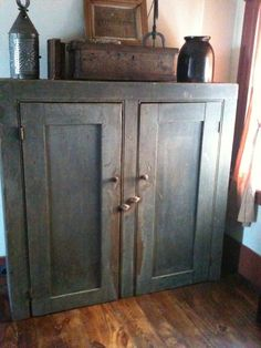 "This primitives cupboard ""speaks"" of being useful & beautiful for decades with many more to come."