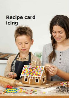 Holiday Recipe from IKEA: Icing - Baking and decorating cookies and gingerbread houses is a fun Christmas activity for the whole family. This icing recipe is the the perfect additional to all of your holiday treats! Christmas Makes, Christmas Cookies, Christmas Holidays, Winter Holidays, Holiday Treats, Holiday Recipes, Holiday Foods, Christmas Recipes, Ikea Gingerbread House