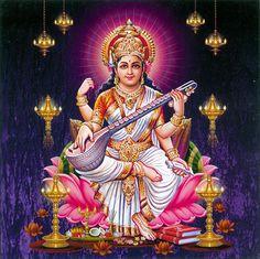 Saraswathi Homam is dedicated to Goddess Saraswathi Devi who is the authority of knowledge and wisdom. Goddess Saraswathi Devi is invoked through a Saraswathi Homa and Vedic Folks specializes in Saraswathi Homa. Saraswati Photo, Saraswati Mata, Saraswati Goddess, Goddess Lakshmi, Durga Maa, Shiva Hindu, Shiva Shakti, Hindu Deities, Hindu Art