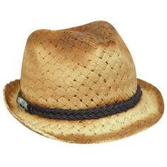 Hawaiian Tropic Paper Fedora One Size Fit Trilby Beach Stetson Diamond Top  Hat     For more information 1a6c227857fc