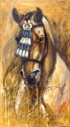 Noble Andalusian, acrylic on canvas  #horse #equine #art