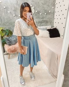 Modest Casual Outfits, Modest Fashion, Cute Outfits, Fashion Outfits, Color Combinations For Clothes, Sunday Outfits, Church Outfits, Jeans, Instagram
