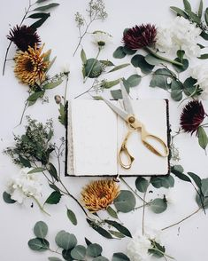 Gorgeous floral flat lay.