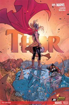 Paste magazine- 100 best comic book covers 2015:  Thor 5- Russel Daulterman