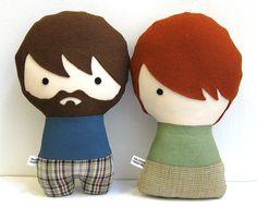 Muñecos de trapo personalizados. Tu familia en miniatura.