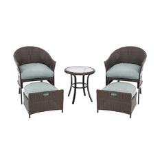perfect patio furniture for a small patio spacegarden treasures south point brown woven patio conversation set with cushions - Small Patio Set