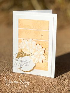 Elegantly Said Thank You card created by Robyn Lawton   Stamp Story in Australia