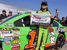 NASCAR driver Danica Patrick made history.Driver of the # 10 car.