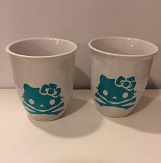 Skull Kitty Mug Coffee Mug Hello Kitty Cup by MaidenLongIsland