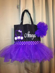 "A tutu that is full of TULLE! For your Ballerina, Cheerleader, Princess, Drama Queen or Girly Girl. The Essence of Girly Couture. Our Tutu Totes made to order for your special little ""girly girl"". They make fantastic Birthday, Christmas and ""Just Because"" gifts.  Perfectly sized for any Age!"