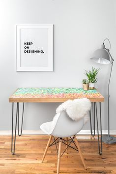 Cool To Warm Desk | DENY Designs Home Accessories