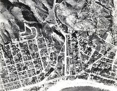 Laguna Beach, CA: Downtown 1931  That wide street in the middle is, of course, Broadway. It's fun to look carefully at the streets and recognize those that you know. It is different today and still the same as well. One thing you'll note – there is no Third Street hill connecting the downtown to Park Ave. Thanks to Chris Kreymann for sending us this aerial shot.  Correction: Friday's photo (L-R): Fred Aufdenkamp, J.B. Andrews, and A.E. Royale from 1935.