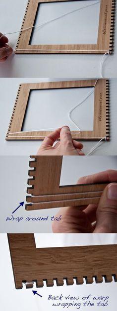 Warpping Loom- how to use your Unusual Pear Loom The Weaving Loom