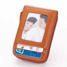 Hot-sale Men Women Leather Capacity Card Holder Portable Coin Bag - NewChic