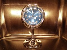 Reveil-horloge-pendule-Linden-Japan-1970-70s-vintage-chrome