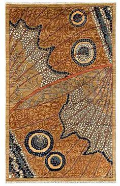 Moth wing rug design   Contemporary, Organic