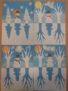 DIY Christmas Activities & Decoration - Full of ideas to inspire you with deco and activities for Christmas. Diy Christmas Activities, Christmas Art Projects, Winter Art Projects, Winter Crafts For Kids, School Art Projects, Art For Kids, Kids Crafts, Preschool Winter, Arte Elemental