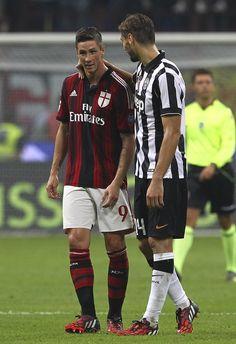 AC Milan v Juventus FC - Serie A - Fernando Torres & Fernando llorente