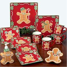 Susan+Winget+Pottery | ... Certified International Gingerbread Man Collection by Susan Winget