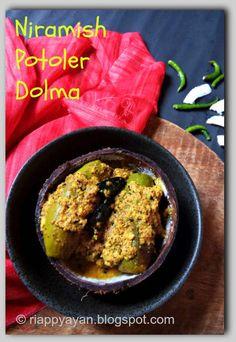 Recipe Junction: Niramish Patoler Dolma/Dorma(Veg version of Bengali stuffed Parwal/pointed Gourd)