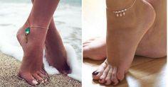 Hermosas ideas de pulseras para tu pies, ¡adorna tus tobillos!