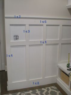 6 Enterprising Simple Ideas: Gray Wainscoting Board And Batten wainscoting trim interior doors.Gray Wainscoting Board And Batten wainscoting ideas bathroom. Home Renovation, Home Remodeling, Cheap Remodeling Ideas, Bathroom Renovations, Moldings And Trim, Moulding, Molding Ideas, Crown Moldings, Staircase Molding