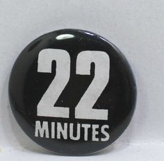 22 Minutes Pin Badge Button Pinback Pin Badges, Lululemon Logo, Buttons, Store, Ebay, Storage, Shop, Knots, Plugs