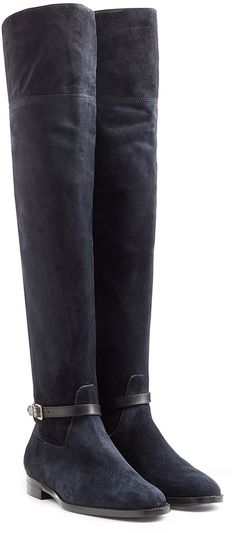Burberry Shoes & Accessories Suede Over-The-Knee Boots