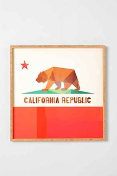 Fimbis For DENY California Framed Wall Art - Urban Outfitters