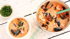 Emeril's New England Salmon and Shellfish Chowder