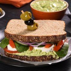 Sándwich Vegetariano con Queso de Cabra