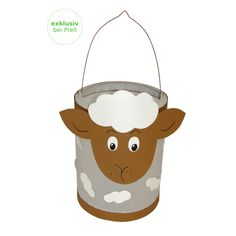 Lantern craft kit sheep D: cm, H: 24 cm, 8 pieces, & e - Laterne - taktak decor Fall Crafts, Diy And Crafts, Diy For Kids, Crafts For Kids, Chinese Crafts, Lantern Craft, Halloween Tutorial, How To Make Lanterns, Cup Art
