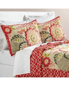 Floral and Geometric Darby Reversible Quilt - World Market
