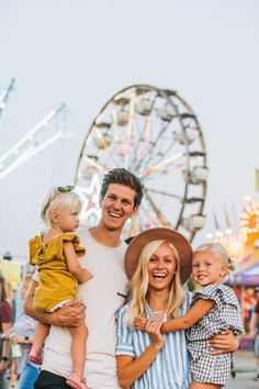 My heart is so full of gratitude today, especially having these three by my side! ❤️ This last year has been quite a journey for me as I've shifted my. Carnival Photography, Fair Photography, Photoshop Photography, Children Photography, Family Theme, Family Goals, Family Life, Boardwalk Outfit, Fair Outfits