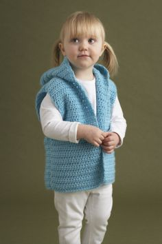 Image of Wee Vest Free Pattern on Lion Brand site I think it would be good for a boy, though.