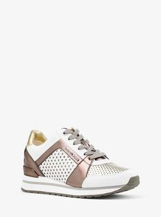 74d849a5ff90 Billie Perforated Metallic Trainer