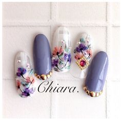 Acrylic Nail Art For More Beautiful Nails Fancy Nails, Diy Nails, Cute Nails, Pretty Nails, Flower Nail Designs, Diy Nail Designs, Flower Nail Art, Nail Effects, Japanese Nail Art