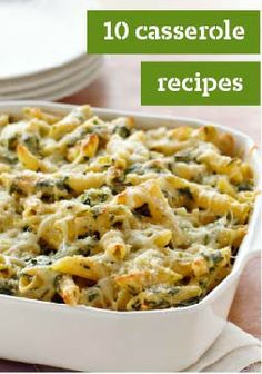 10 Casserole Recipes – Call it a casserole or call it a hot dish. Either way, it means comfort food. Casserole recipes, baked in a casserole dish, are hot and creamy—and usually have cheese.