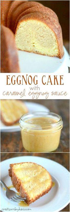 Swirled Eggnog Cake